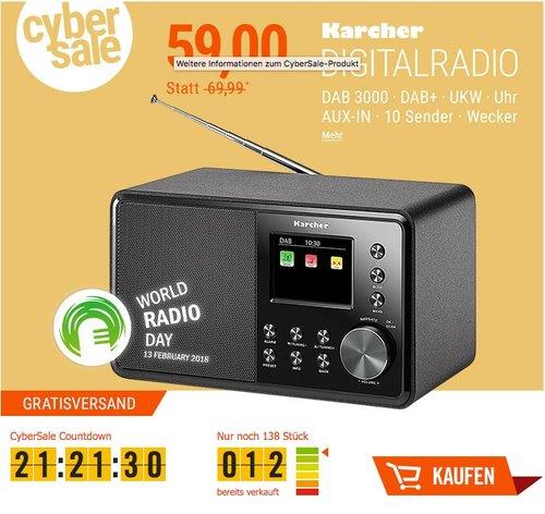 Karcher DAB 3000 Digitalradio - jetzt 16% billiger
