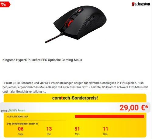 Kingston HyperX Pulsefire FPS Optische Gaming-Maus - jetzt 48% billiger
