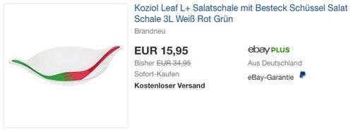 Koziol 3692820 Leaf L+ Salatschale - jetzt 54% billiger
