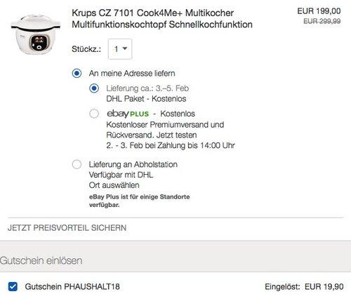 Krups CZ7101 Multikocher Cook4Me+ - jetzt 10% billiger