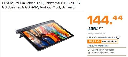 Lenovo Yoga Tablet 3-10 25,65 cm (10,1 Zoll HD IPS) Convertible Tablet-PC (QC APQ8009 Quad-Core Prozessor, 2GB RAM, 16GB eMMC) - jetzt 27% billiger