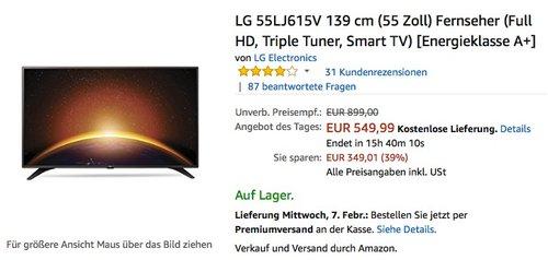 LG 55LJ615V 139 cm (55 Zoll) Fernseher - jetzt 13% billiger