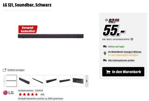 LG SJ1 2.0 Soundbar - jetzt 27% billiger
