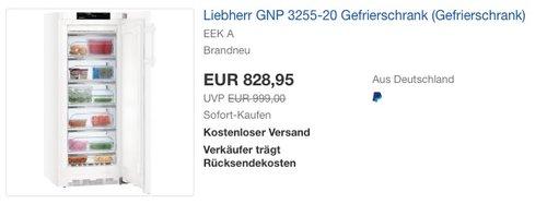 Liebherr GNP 3255-20 Gefrierschrank - jetzt 7% billiger