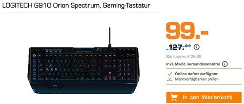 LOGITECH G910 Orion Spectrum Gaming-Tastatur - jetzt 14% billiger