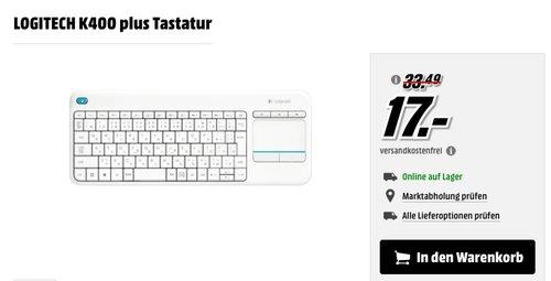 LOGITECH K400 plus Tastatur - jetzt 43% billiger