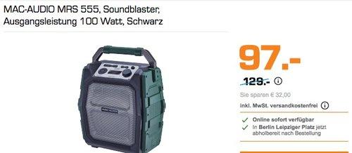 MAC-AUDIO MRS 555, Soundblaster - jetzt 25% billiger