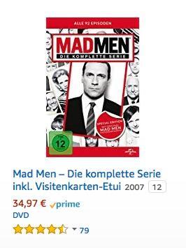 Mad Men – Die komplette Serie inkl. Visitenkarten-Etui - jetzt 20% billiger