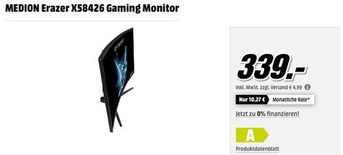 MEDION ERAZER X58426 31.5Zoll Full HD Monitor - jetzt 14% billiger