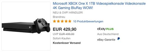 Microsoft XBOX One X 1TB - jetzt 4% billiger