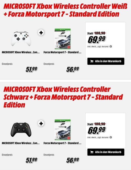 MICROSOFT Xbox Wireless Controller  + Forza Motorsport 7 - Standard Edition - jetzt 15% billiger