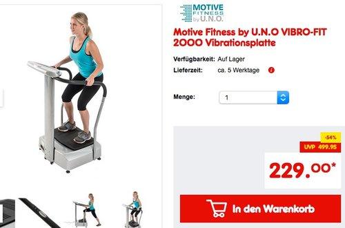 Motive Fitness by U.N.O VIBRO-FIT 2000 Vibrationsplatte - jetzt 18% billiger
