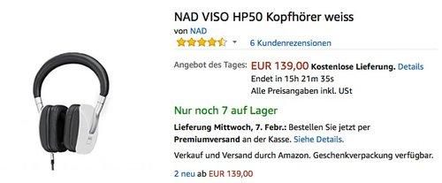 NAD VISO HP50 Kopfhörer weiss - jetzt 32% billiger
