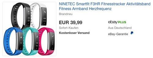 NINETEC Smartfit F3HR Fitness Tracker - jetzt 18% billiger