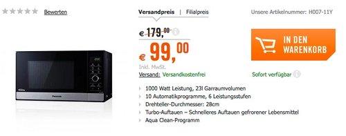 Panasonic NN-SD28HSGTG Inverter-Mikrowelle - jetzt 44% billiger