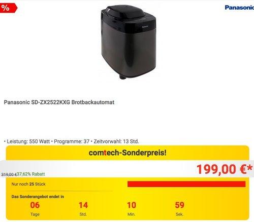 Panasonic SD-ZX2522KXG Brotbackautomat - jetzt 17% billiger