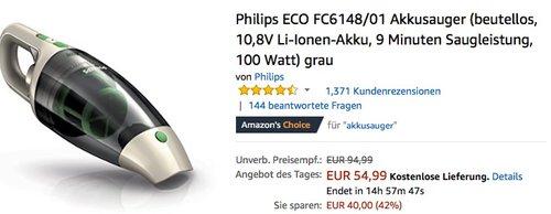 Philips ECO FC6148 01 Akkusauger grau - jetzt 16% billiger