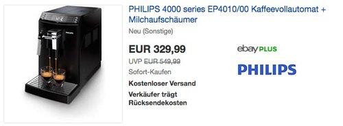 PHILIPS EP4010/00 Kaffeevollautomat - jetzt 17% billiger