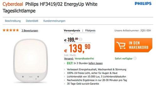 Philips HF3419/02 EnergyUp White Tageslichtlampe - jetzt 6% billiger