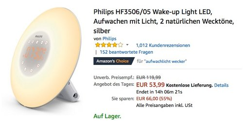 Philips HF3506/05 Wake-up Light Wecker - jetzt 21% billiger