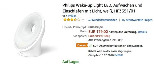 Philips HF3651/01 Wake-up Light LED - jetzt 11% billiger