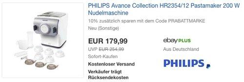 Philips HR2354 Nudelmaschine - jetzt 10% billiger