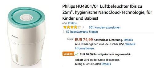 Philips HU4801/01 Luftbefeuchter - jetzt 13% billiger