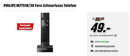 PHILIPS M7751B/38 Faro Schnurloses Telefon - jetzt 44% billiger