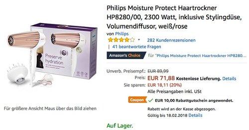 Philips Moisture Protect Haartrockner HP8280/00 - jetzt 14% billiger