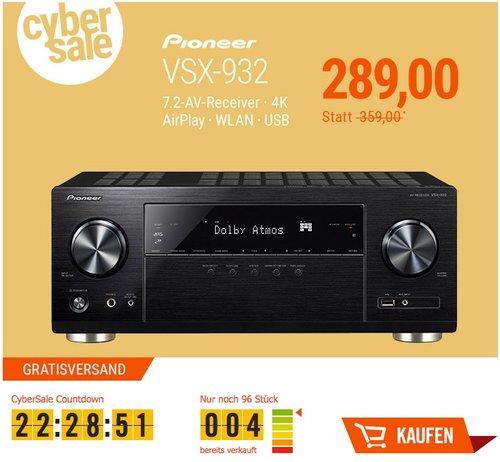 Pioneer VSX-932 7.2 AV Receiver - jetzt 13% billiger