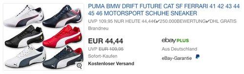 Puma BMW Future Sneakers - jetzt 14% billiger