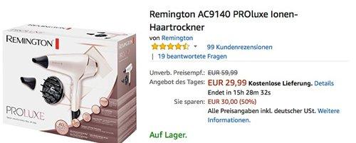 Remington AC9140 PROluxe Ionen-Haartrockner - jetzt 18% billiger