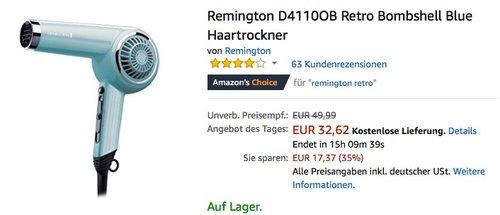 Remington D4110OB Retro Bombshell Blue Haartrockner - jetzt 14% billiger