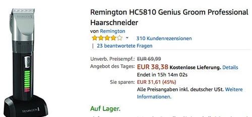Remington HC5810 Genius Groom Professional Haarschneider - jetzt 17% billiger