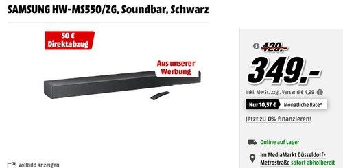 SAMSUNG HW-MS550/ZG Soundbar - jetzt 12% billiger