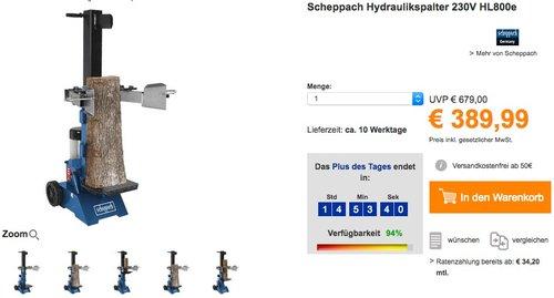 Scheppach Hydraulikspalter 230V HL800e - jetzt 25% billiger
