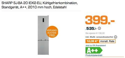 Sharp SJ-BA20IEXI2-EU Kühl-Gefrier-Kombination - jetzt 20% billiger