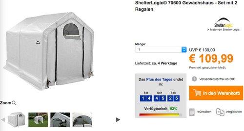 ShelterLogic© 70600 Gewächshaus - Set mit 2 Regalen - jetzt 21% billiger