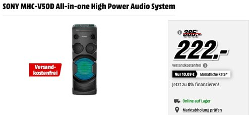 SONY MHC-V50D All-in-one High Power Audio System - jetzt 38% billiger