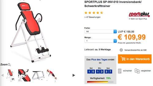 SPORTPLUS SP-INV-010 Inversionsbank Schwerkrafttrainer - jetzt 15% billiger