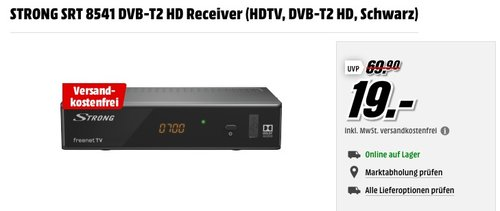 STRONG SRT 8541 DVB-T2 HD Receiver - jetzt 23% billiger