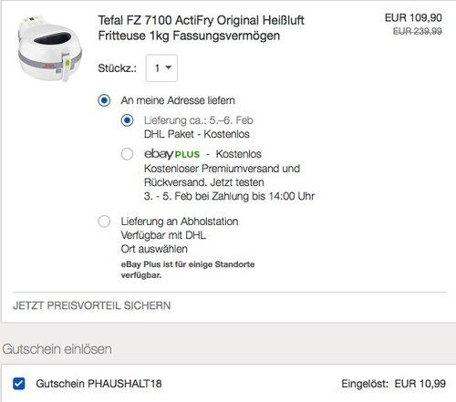 Tefal Actifry FZ7100 Heißluft Fritteuse - jetzt 10% billiger