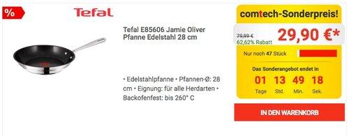 Tefal E85606 Jamie Oliver Pfanne Edelstahl 28 cm - jetzt 28% billiger