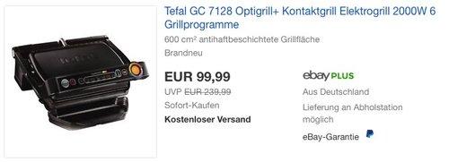Tefal GC 7128 Optigrill+ Kontaktgrill - jetzt 22% billiger