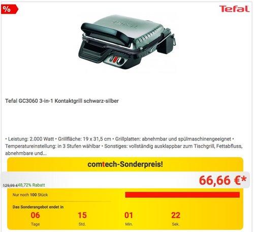 Tefal GC3060 3-in-1 Kontaktgrill - jetzt 17% billiger