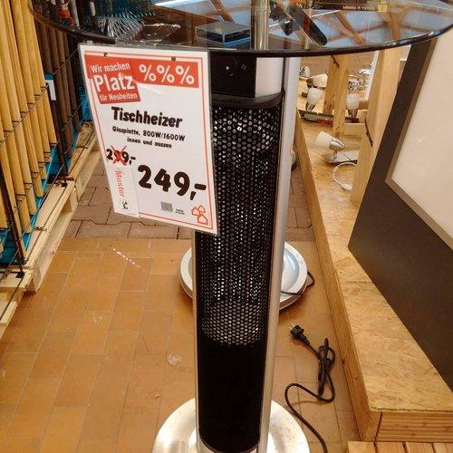 Tischheizer Glasplatte 800/1600W - jetzt 17% billiger