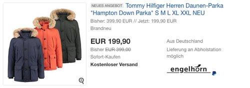 """Tommy Hilfiger Herren Daunen-Parka """"Hampton Down"""" - jetzt 28% billiger"""