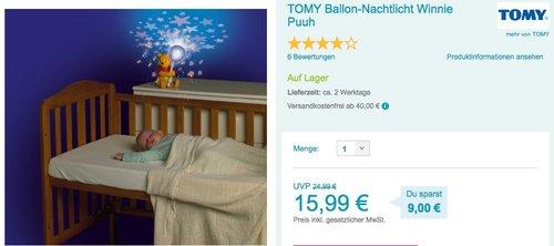 TOMY Ballon-Nachtlicht Winnie Puuh - jetzt 13% billiger