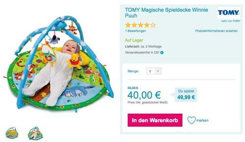TOMY Magische Spieldecke Winnie Puuh - jetzt 39% billiger