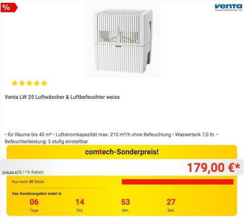 Venta LW 25 Luftwäscher & Luftbefeuchter - jetzt 10% billiger